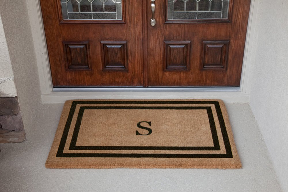 Luxury Coir Monogrammed - Double Picture Frame (Black) S 38 x 60 by The Personalized Doormats Company