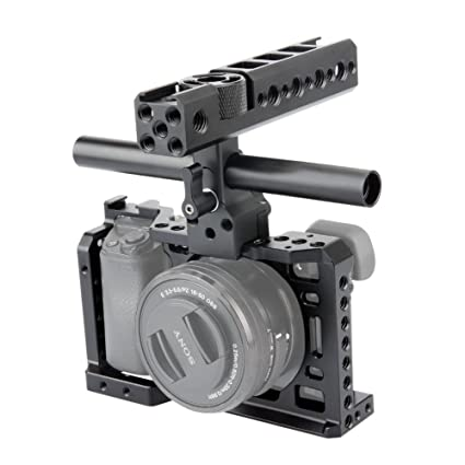 NICEYRIG A6500 Camera Cage Kit con QR NATO Handle Grip Cable Clamp ...