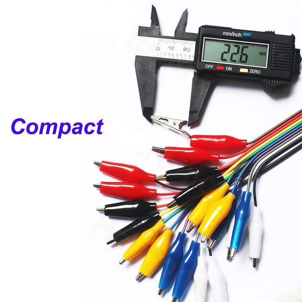 fil de test de bit DIYmalls Pince crocodile /à Dupont C/âble Breadboard Jumper Wire 10pin 20cm M/âle Femelle pour Arduino Micro