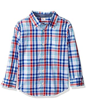 Baby Toddler Boys' Bluered Plaid Woven Top