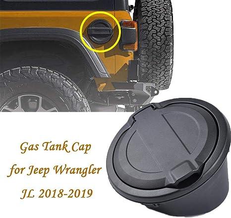 Almencla Heavy Duty Oil Gas Cap Fuel Door Tank Cover for Jeep Wrangler JL 2 Door 4 Door 2018-2019