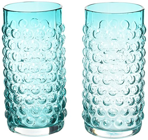 Country Cottage Hobnail Glassware Set by Twine (Blue Glass Hobnail)