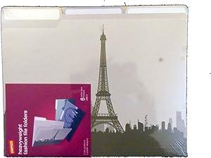 Cityscapes Heavyweight Fashion File Folders Paris London Rome