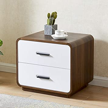 Scandi White Painted Narrow Bedside Cabinet Bedside Solid Wood Nightstand