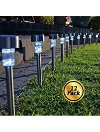 solar pathway lights 12 pack koolife stainless steel led path landscape