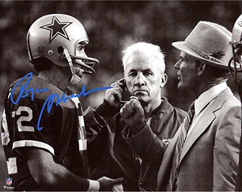 (Roger Staubach Dallas Cowboys Autographed 8