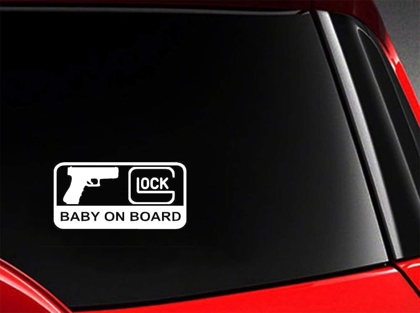 Pegatinas 3D De Pared Car Styling Glock Baby On Board Decoración Del Personaje De La Etiqueta Engomada Automotriz Del Coche Para La Etiqueta Engomada De La Ventana Del Ordenador Portátil Del Coche