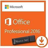 Microsoft® Office Professional 2016 ISO USB. 32 bit & 64 bit - Original Lizenzschlüssel mit USB Stick von Badge Art®