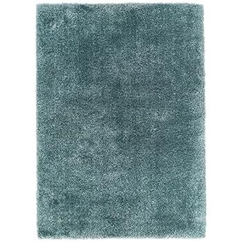 Home Way 3.3-Feet-by-5-Feet Thick Plush Shag Area Rug - Blue