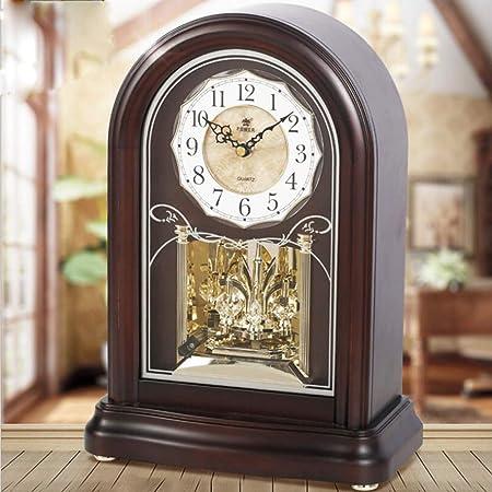 GongDi Reloj de Mesa Mantel Relojes de Lujo de Madera Maciza Reloj ...