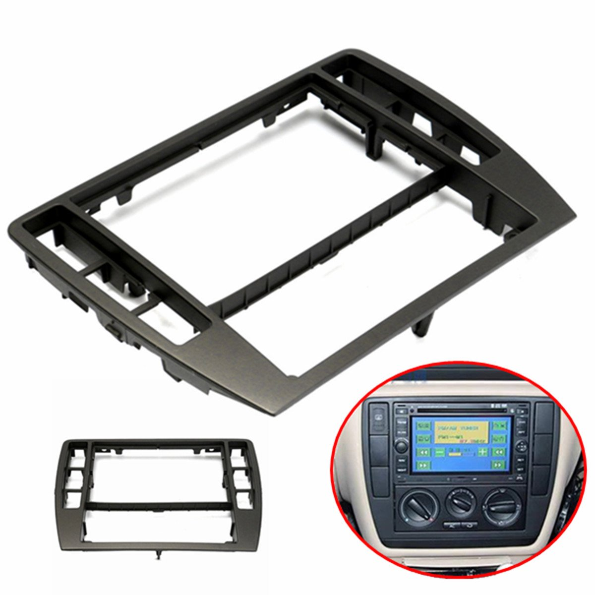 Car Repair Maintenance Frame Center Console Radio Panel for 2001-2005 VW Passat B5 WD-003-171
