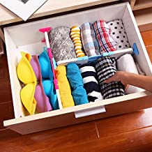 Ieasycan 3 Colors Expandable Household Plastic Partition Collapsible Tray For Organizing Drawers, Shelf Space, Dish Drainer Or Countertops