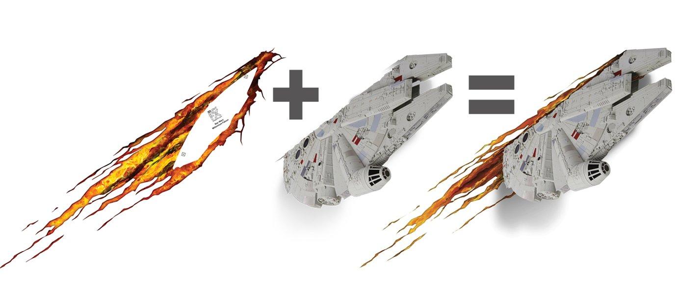 3DLightFX Star Wars Millennium Falcon 3D Deco Light by 3D light FX (Image #5)