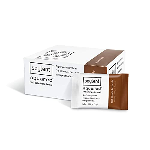 Soylent Squared Chocolate Brownie Plant Based Protein Bar Pack of 30