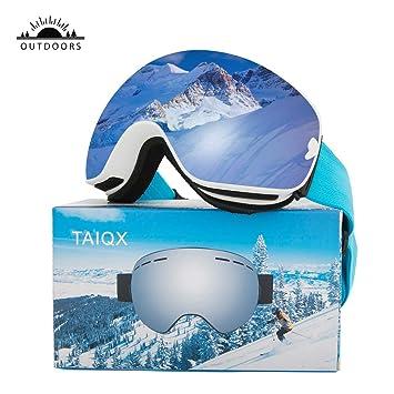 Amazon.com: TAIQX - Gafas de esquí de nieve, para deportes ...