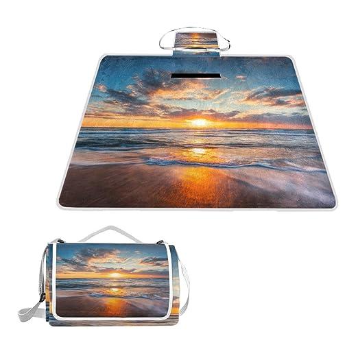 KASABULL - Esterilla de Playa de Madera con diseño de Canasta de ...
