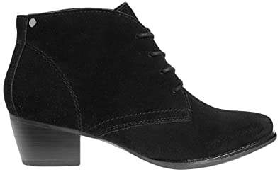 c55dce9b7a8 Marks   Spencer Footglove T029031W Wider FIT Black Suede Lace up Ankle Boots  RRP £55