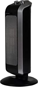 Soleus Air 1000/1500 Watt Tower Ceramic Heater for Home and Office, 2 Heat Settings, Extremely Safe with Overheating and Tip-Over Protection, Easy to Use Manual Controls