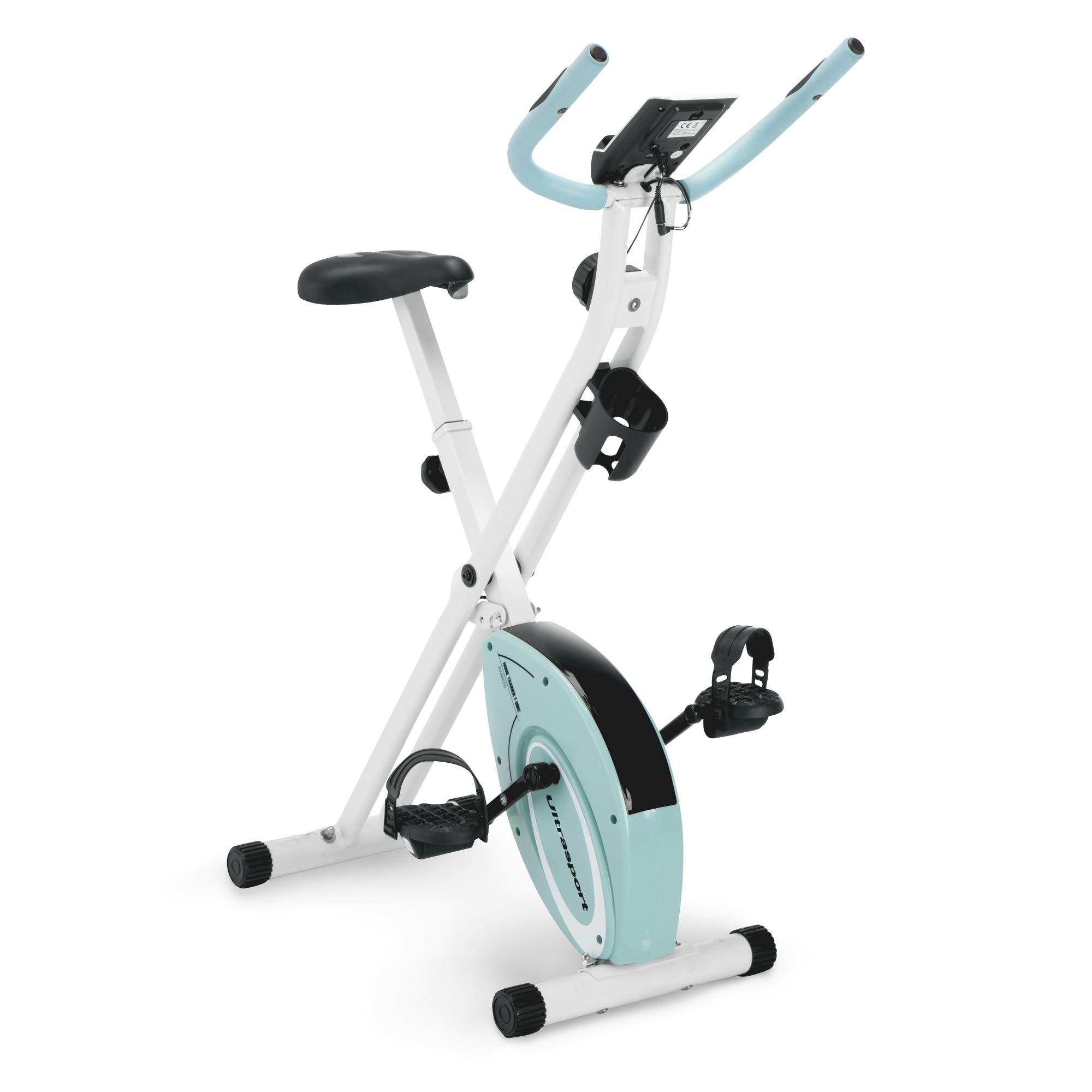Marcy Foldable Upright Exercise Bike with Adjustable Resistance for Cardio Workout & Strength Training in Pink/Sky Blue/Navy Blue/Green/Black by Marcy