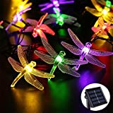 ATD Creative Cute Animal Shapes Multicolor Solar String Lighting,Solar 20LED Dragonfly Waterproof Energy Saving String Lighting