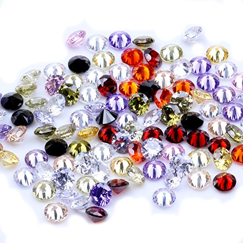 1000pcs AAAAA+ 2.5mm CZ Stone Round Cut Beads Mixed Colors Cubic Zirconia Synthetic Gems for Jewelry from NIZI