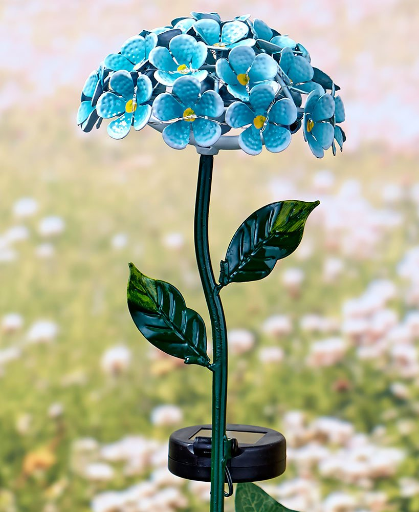 The Lakeside Collection 26-Light Solar Flower Stakes- Blue