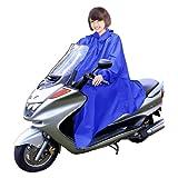 男女兼用 バイク 自転車 スクーター 用 レインコート ポンチョ 防水 フリーサイズ 雨具 雨合羽 カッパ 屋外作業 アウトドア