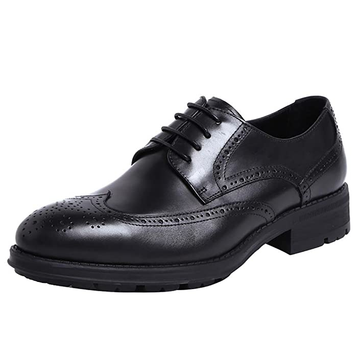 Men 's Retro Leather Carved Straps Low Top Manual Oxford Shoes