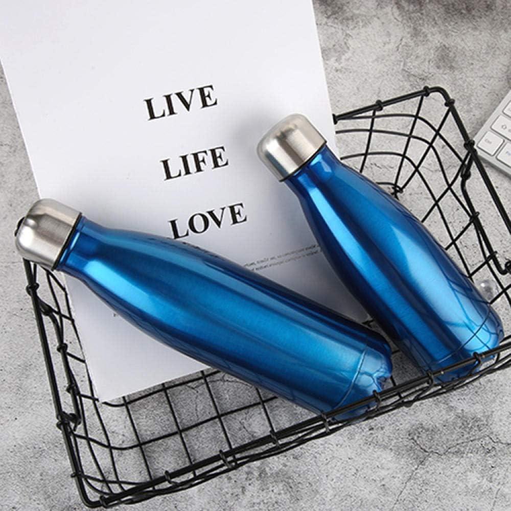 Termo Botella Creative Cola Bottle Thermos Acero Inoxidable De Gran Capacidad, Libre De Bpa para Exteriores | A Prueba De Fugas, Sin Sudoración | Botella De Agua Reutilizable-Azul Brillante_260Ml