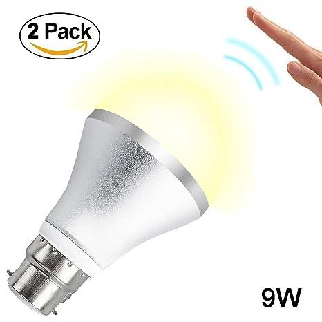 Bombilla LED con sensor de movimiento SurLight B22 de 9 W, con sistema de autodetecció