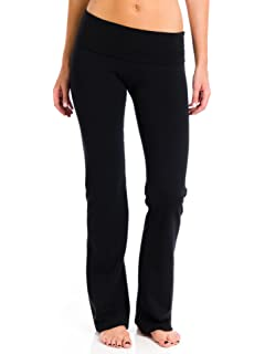 775869faaf Amazon.com: Hard Tail Foldover Bootcut Yoga Pants - Charcoal Heather ...