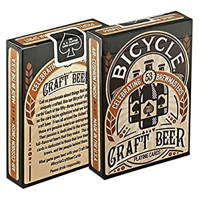 Bicycle Craft Beer Playing Cards (2-Pack): Toys & Games