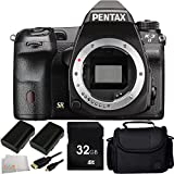 Pentax K-3 II DSLR Camera (Body Only) 32GB Bundle 6PC Accessory Kit. Includes 32GB Memory Card + 2 Replacement D-Li90 Batteries + Micro HDMI Cable + Carrying Case + Microfiber Cleaning Cloth