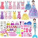 SOTOGO Barbie Doll Clothes Set Include 15 Pack Barbie Clothes Party Grown Outfits and Different Barbie Doll Accessories for Little Girl