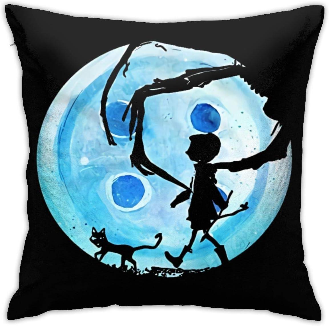 Made In USA Fast Shipping Coraline Cartoon  Fleece Blanket