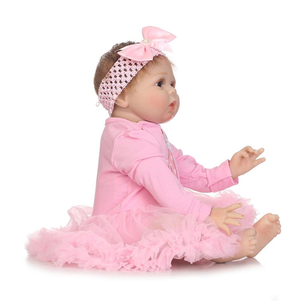 chinatera Kids Toy NPK Lovely Realistic Simulation Reborn Doll Soft Silicone Lifelike Artificial Kids Cloth Dolls by chinatera (Image #4)