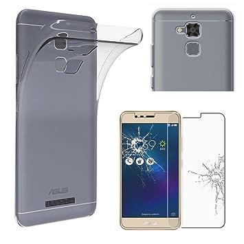 ebestStar - Funda ASUS Zenfone 3 MAX ZC520TL Carcasa Silicona, Protección Claro Ultra Slim, Transparente + Cristal Templado Protector Pantalla ...