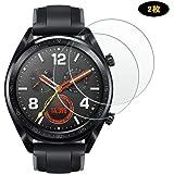 Huawei Watch GT フィルム A-VIDET【2枚セット】タッチ反応良い 9H硬度の液晶保護 Watch GT Classic ガラスフィルム 薄型 耐指紋 撥油性 高透過率 (クリア)