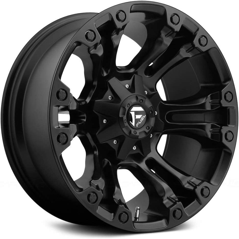 Fuel D560 Vapor Сustom Wheel 106.4mm Hub Matte Black 20 x 10 -18 Offset 6x139.7 Bolt Pattern