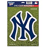 MLB New York Yankees 79731010 Die Cut Logo Magnet, Small, Black