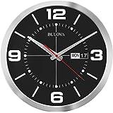 Bulova Calendar Wall Clock, Black