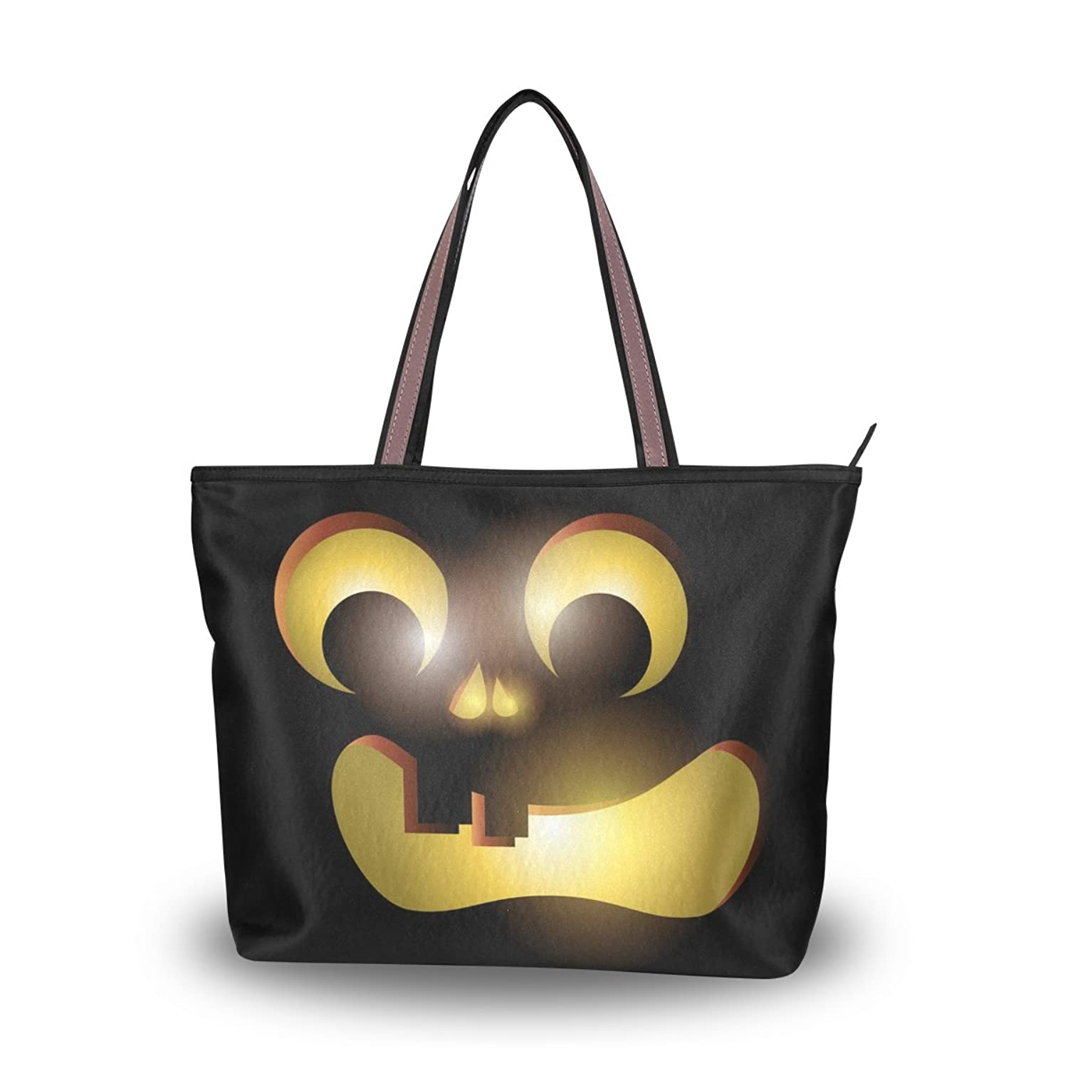Lightweight Tote bag,Halloween Ghost Spooky Pumpkin,Handbag for Women