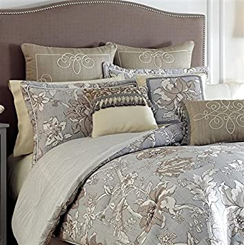 estate by croscill alexandria 4pc comforter set blue queen
