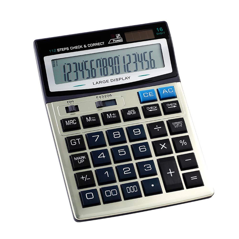 Calculadora, Calculadora De De Calculadora Escritorio De La Función Estándar Dual-Powered para La Oficina Y El Uso del Negocio (16 Digts) 0be0b0