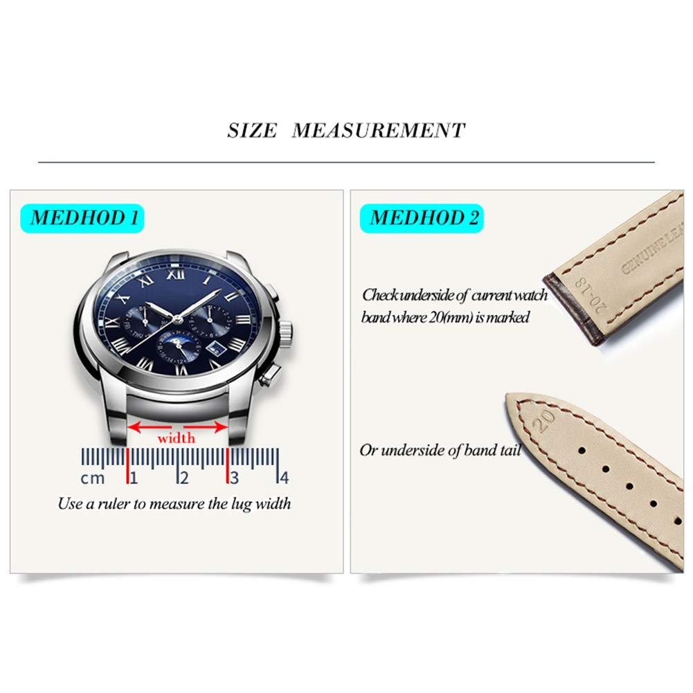 24mm Black Canvas Watch Strap for Men and Women 2 Piece NATO Straps Premium Watch Bands Replacement by SIFEIRUI (Image #2)