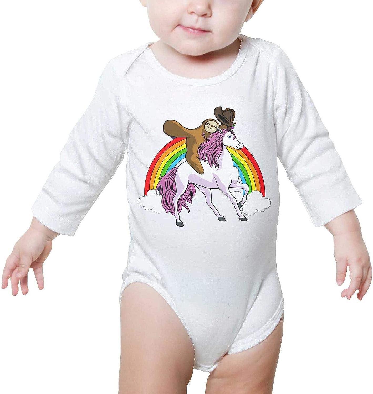 Sloth Dinosaur Unicorn Baby Onesie Romper Long Sleeve Sleepwear Cotton Funny
