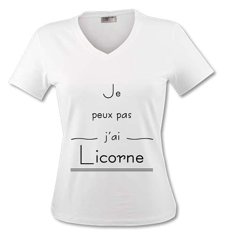 T-Shirt Col V Adulte Je Peux Pas JAi Personnalis/é