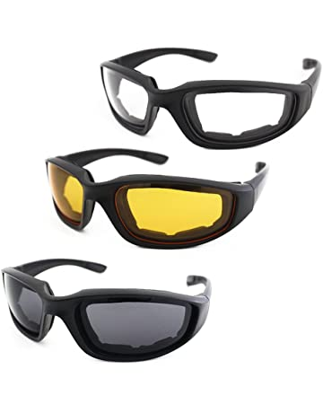 7e0ebb2f49 3 Pair Motorcycle Riding Glasses Padding Goggles UV Protection Dustproof  Windproof Motorcycle Sunglasses with Clear Smoke