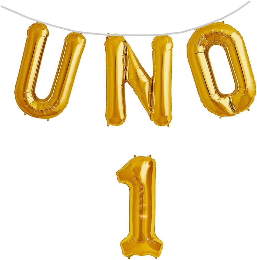 "32"" UNO Letter with Number 1 Foil Mylar Balloons 
