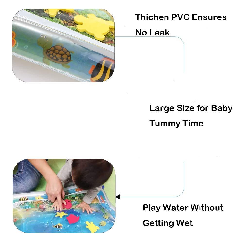 Aspersor de Juego Inflables Tapete de Aprendizaje para Salpicar con Rociadores para Actividades al Aire Libre Luchild Splash Pad 170 * 170cm